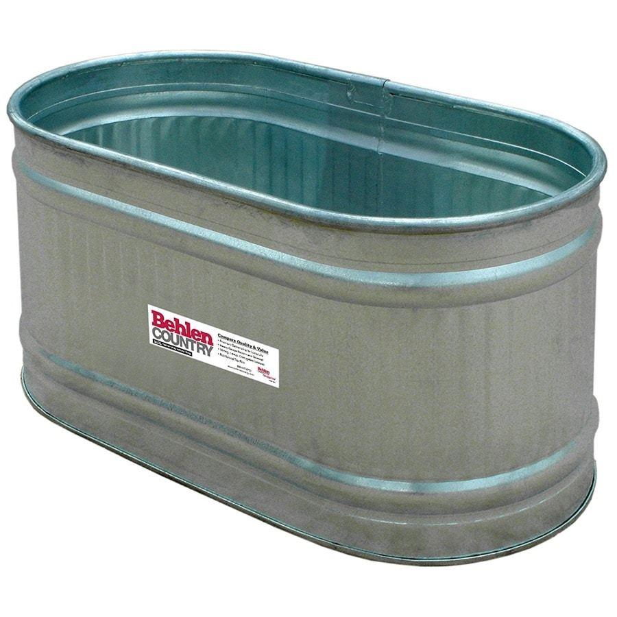 one galvanized trough