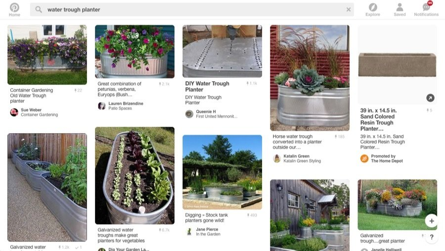 galvanized trough planters on pinterest